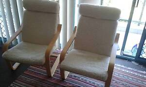 Wood armchairs with wool seats Coogee Eastern Suburbs Preview