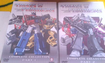 TRANSFORMERS COLLECTION DVDS SET PART 1&2 Macquarie Fields Campbelltown Area Preview