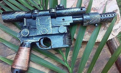 Han Solo DL-44 Blaster Hand Painted Star Wars A New Hope w/ Blaster Sound !
