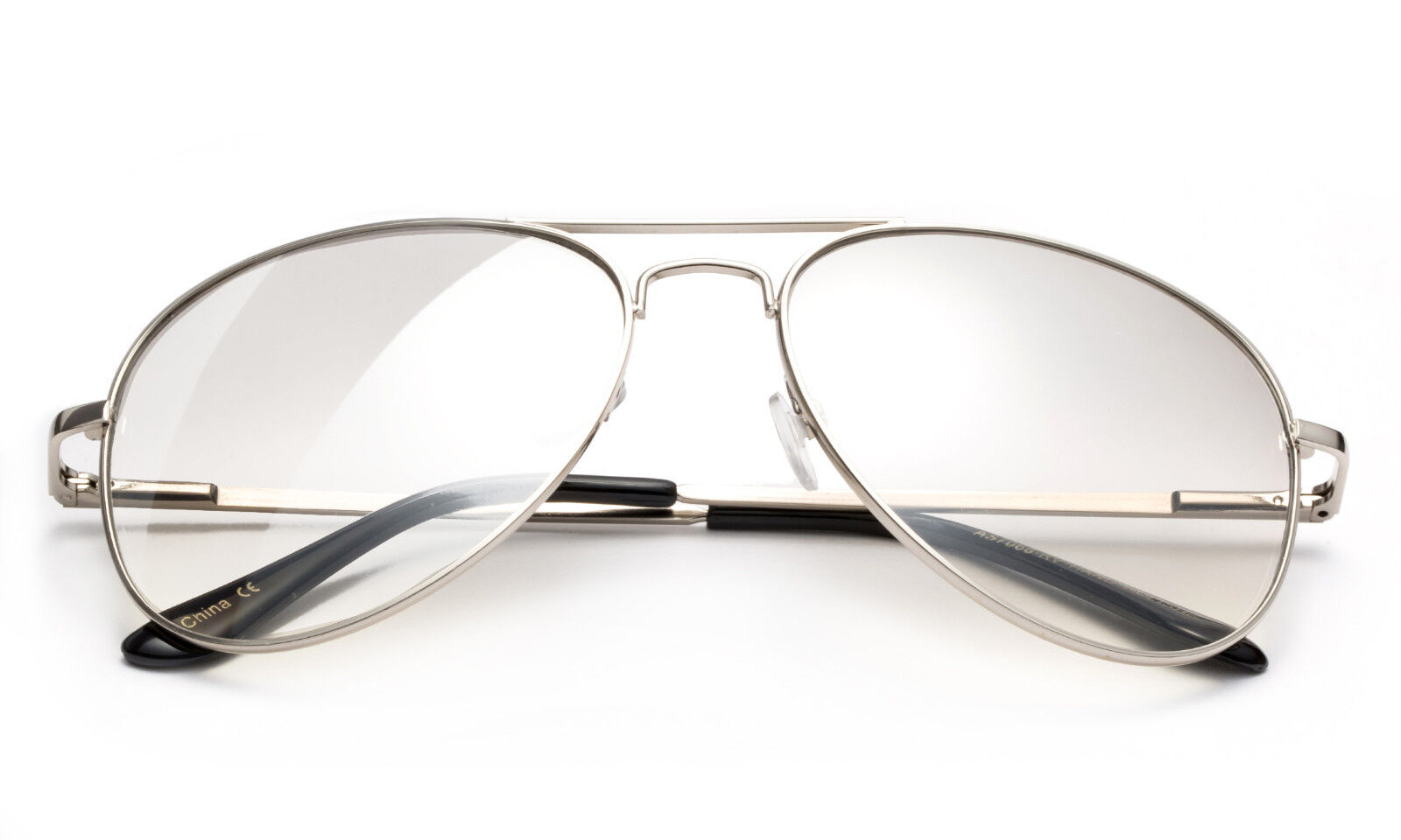Lightly Mirror Clear Lens Glasses Classic Aviator Pilot Styl