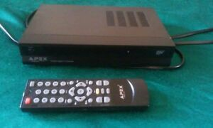 Apex DT502 Digital TV Converter Box With Remote Analog Pass