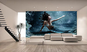 Mermaid  Wall Mural Photo Wallpaper GIANT WALL DECOR PAPER POSTER
