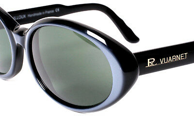Vuarnet Black Oval Women s Sunglasses with Grey Tint Lenses - Made in France 659f722bc4a7