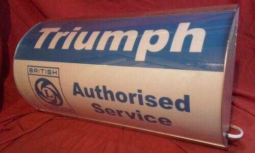 Triumph,leyland,BL,retro,garage,workshop,mancave,light up,sign,vintage,display