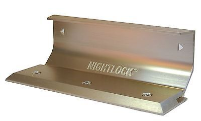 BLEMISHED Door Barricade Brace The NIGHTLOCK Security Lock BRUSHED NICKEL FINISH