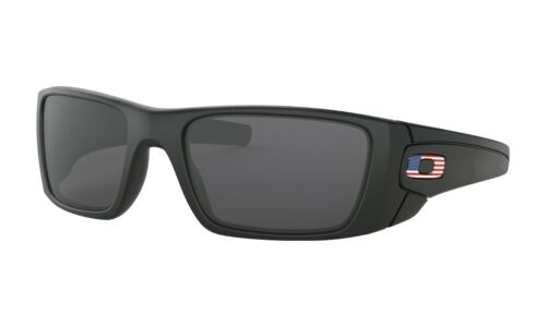Oakley SI FUEL CELL Sunglasses OO9096-38 Matte Black W/Grey Lens FLAG COLLECTION
