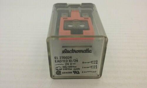 ELECTROMATIC EL270024 RELAY 8 PIN 24V 10A 120VAC NNB