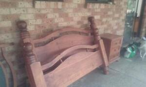 Solid Timber Double Bed Kurrajong Hawkesbury Area Preview