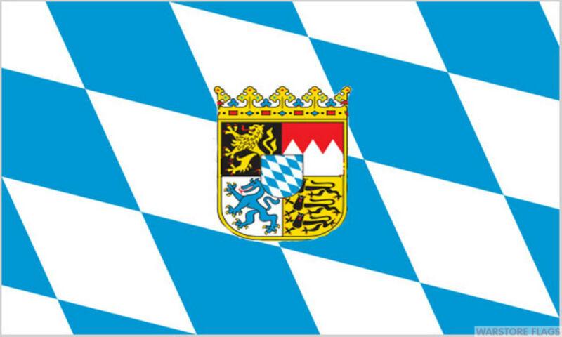 BAVARIA FLAG WITH CREST german Oktoberfest CHOOSE YOUR SIZE flags