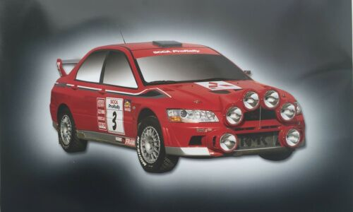 Mitsubishi Lancer Rally Race Car 16x27 Promotional Poster