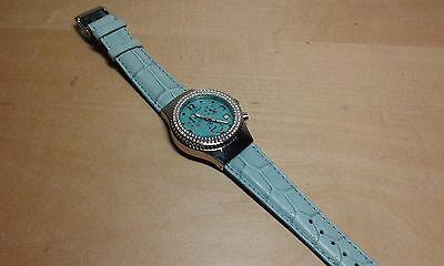 Nuevo - Reloj Watch Montre AQUAMARIN - Steel Acero with Diamonds - With Box segunda mano  Reus