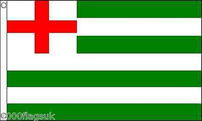 16th Century Green and White Striped Ensign 5'x3' Flag
