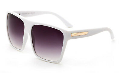 Flat Top Large Oversize Square Sunglasses White Retro Frame Women Fashion UV 400