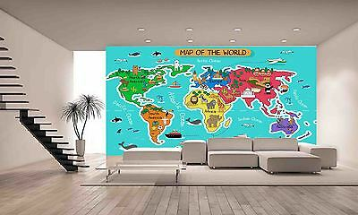 Giant Map Of The World Wall Mural Photo Wallpaper