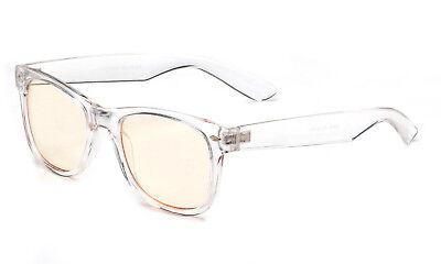 Clear Computer Glasses Block Filter Blue Light Gaming Anti Glare UV (Anti Glare Clear Glasses)