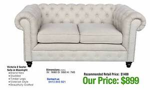 RETRO & CHESTERFIELD SOFAS - up to 80% OFF RRP Leumeah Campbelltown Area Preview