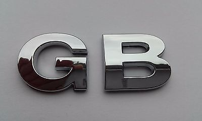 New Chrome 3D Self-adhesive Car Letters badge emblem sticker Spelling GB