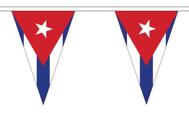 CUBA TRIANGULAR BUNTING 5 metres 12 flags Polyester flag CUBAN CARIBBEAN