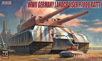 NEUHEIT  ! WW II DEUTSCHER LANDKREUZER P 1000 RATTE  IN 1/72 CA 50 CM LANG !!!