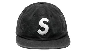 Supreme S Logo washed chambray hat