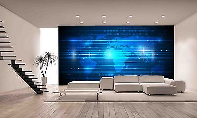 World Map Wall Mural Photo Wallpaper