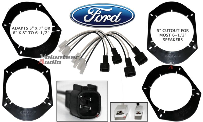 """SHFD03B SA68 5""""x7"""" 6x8"""" to 6.5"""" speaker adapter Plate Mounting Adapters Harness"""