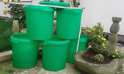 5 x 30 Liter Eimer mit Deckel  gebraucht HOBBOCK