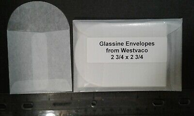 25 Square Glassine Envelopes - 2 3/4 x 2 3/4