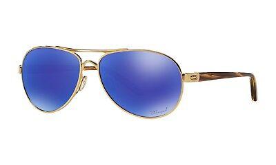 a6eef7a694 Oakley Tie Breaker POLARIZED Sunglasses OO4108-14 Gold Frame W  Violet  Iridium