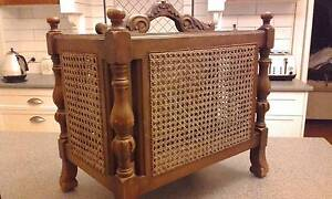 Antique Magazine Rack with Rattan sides North Ipswich Ipswich City Preview