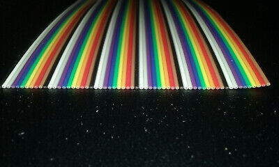 60 Conductor 26awg Color Rainbow Ribbon Wire Cable