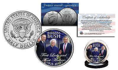 Barbara Bush First Lady   First Mother 2018 Kennedy Half Dollar Coin President