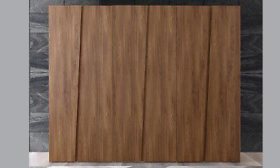 Kleiderschrank Schlafzimmer Garderobe Ulmenholz Drehtüren Asymmetrisches Design