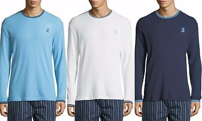 Stripe Long Sleeve Thermal (Psycho Bunny Men's Long Sleeve Logo Jersey Stripe Crew-Neck Thermal T-Shirt)