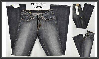 jeans da donna meltin pot elasticizzati vita bassa a zampa bootcut campana 26 27