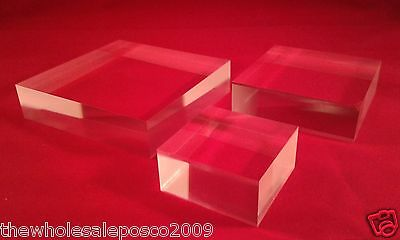 Acrylic Perspex Display Block Retail Jewellery Stand For Window Cabinet Displays