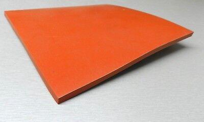 4 Square 14 Thick Silicone Rubber Sheet High Temp Solid Redorange Grade 4x4