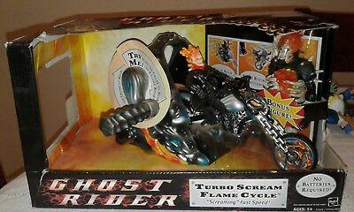 Ghost Rider Movie Turbo Scream Flame Cycle Marvel Legends Figure + BONUS Figure