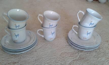 Tea set. Six piece.