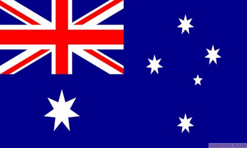 "AUSTRALIA BUDGET FLAG small 9""x6"" GREAT FOR CRAFTS AUSTRALIAN"