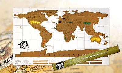 Weltkarte zum freirubbeln Rubbelweltkarte Karte Landkarte XXL Rubbelkarte