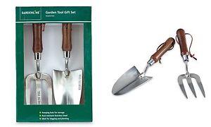 Garden Tool Gift Set Stainless Steel Gardeners Fork & Trovel With Ash Handles