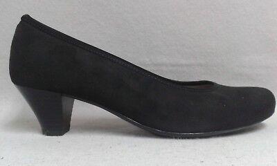 Jenny Pumps schwarz Nubuk Textil gepolsterte Innensohle Luftpolster Weite G 0036 Nubuk-textil