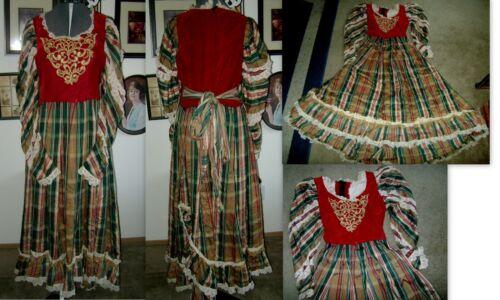 Custom Made Wenches Medieval Renaissance Costume Dress! Velvet & Lace! Sz 16-18!