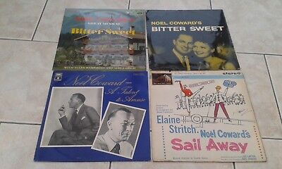 NOEL COWARD  4 VINYL LP JOBLOT:-A Talent To Amuse, Bitter Sweet x 2, Sail Away