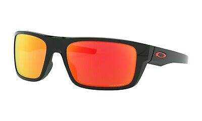 Oakley Drop Point Sunglasses OO9367-1660 Polished Black Frame W/ PRIZM Ruby (Black Pointed Sunglasses)