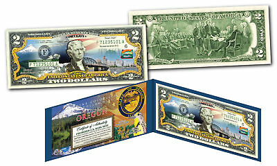 OREGON Genuine Legal Tender $2 Bill USA Honoring America's 50 States