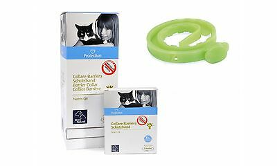 Camon collare barriera gatto all'olio di neem. Protezione da parassiti e insetti