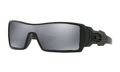 Oakley Oil Rig Sunglasses 03-464 Matte Black Frame W/ Black iridium Lens NEW