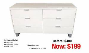 ICE WHITE DRESSER / BUFFET Leumeah Campbelltown Area Preview